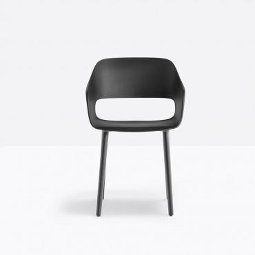 Chaise coque 4 pieds Babila wood 2755