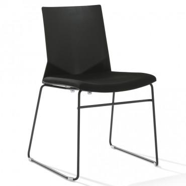 Lot de 10 chaises de bureau Hella avec galette pieds luge