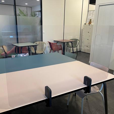 Séparateur plexiglas transparent de 60 cm à 120 cm de large