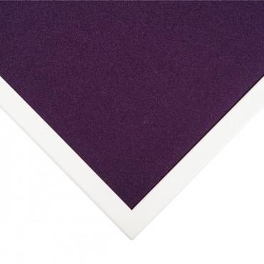 Cloison séparatrice de bureau en tissus contour métallique