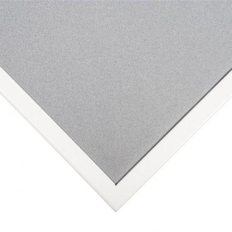 Cloison séparatrice bureau-tissu cadre metal