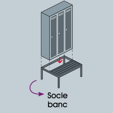 Socle banc pour vestiaire - Accessoire vestiaire | Negostock