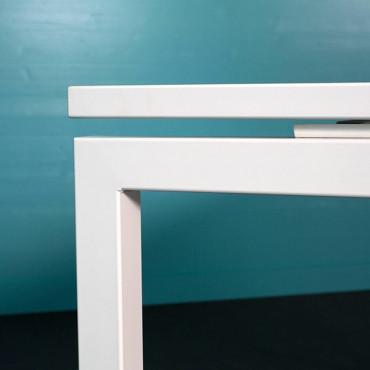 Pôle de 4 bureaux - L.320 x P.164 cm - cloison plexi - Sierra