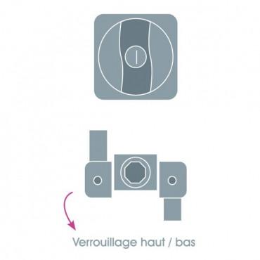 Armoire métallique pour atelier - 2 portes battantes - Negostock
