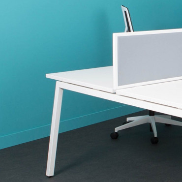 Bench de 4 bureaux-L320xP164cm Actea   Negostock
