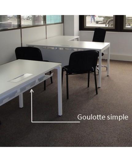 goulotte range c ble pour bureau. Black Bedroom Furniture Sets. Home Design Ideas