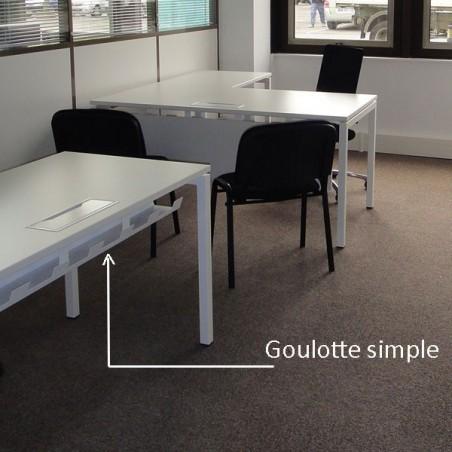 Goulotte range câble pour bureau