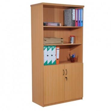 Armoire bibliothèque en bois, H180xL90xP45cm