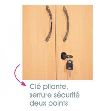 Armoire portes battantes bois, hauteur 180 pour entreprise - Negostock