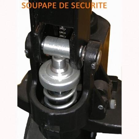 Transpalette manuel, 1500kg, fourches de 1800mm