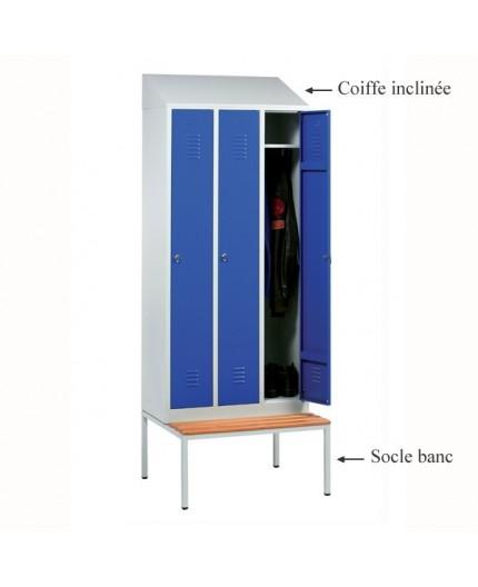 Vestiaire bi place , armoire vestiaire métallique Negostock