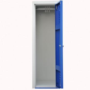 Vestiaire bi place, armoire metallique monobloc 6 cases.