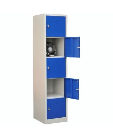 Vestiaire en métal monobloc avec 5 cases - Negostock