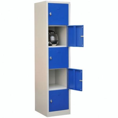 Vestiaire multicases monobloc 5 cases
