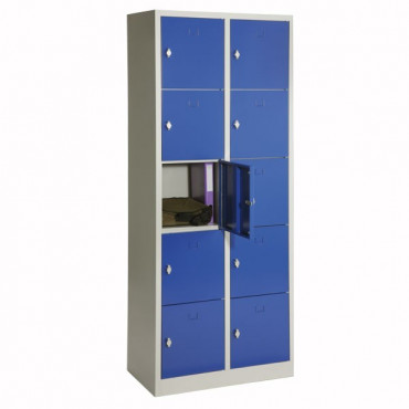 Vestiaire métallique monobloc de 10 casiers - Negostock
