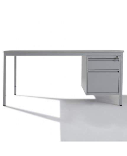 Bureau demi-ministre métallique 1 tiroir - Negostock.com