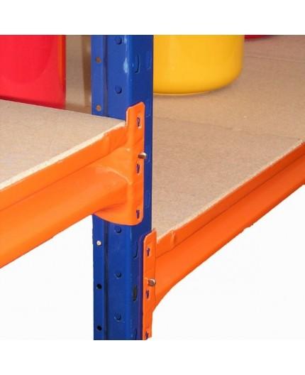 Rayonnage mi lourd plancher bois, capacité 400kg - Negostock.