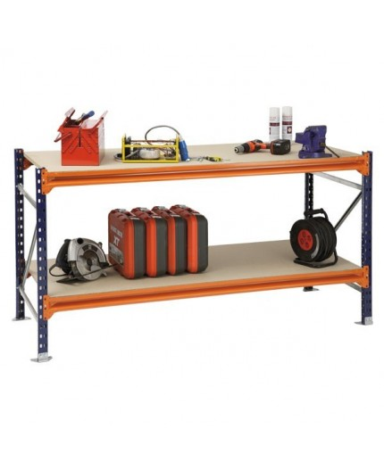 Etabli Atelier - bois et métal - Entrepôt - Negostock