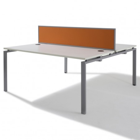 Bench de 2 Bureaux pour Open Space - Gamme Pure