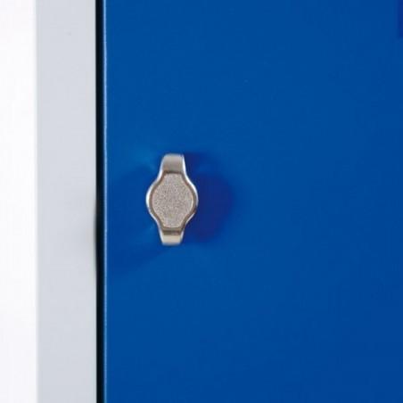 Vestiaire bi place monobloc 4 cases - porte de 40cm-h180
