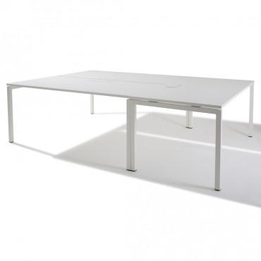 Bureau bench-Gamme Sierra-Pôle de 3 bureaux