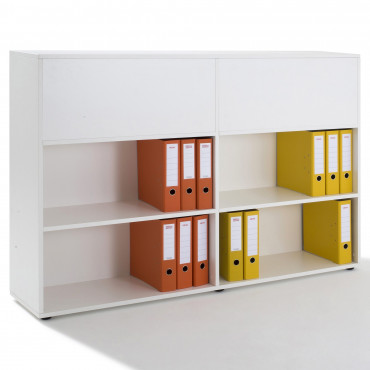Armoire Etagère double accès Recto Verso-H.109xL.160x P.34cm