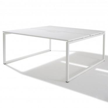 Bench de 2 bureaux pour open space - Gamme Cube