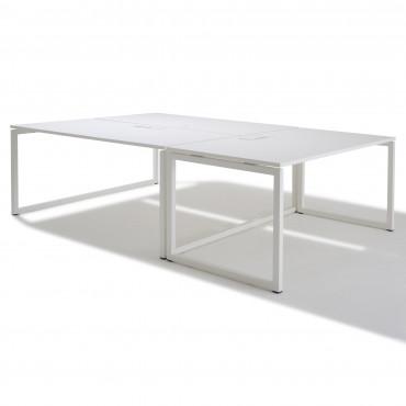 Bench de 3 bureaux pour open space - Gamme cube