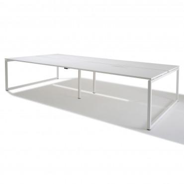 Bench de 4 bureaux pour open space- Gamme Cube