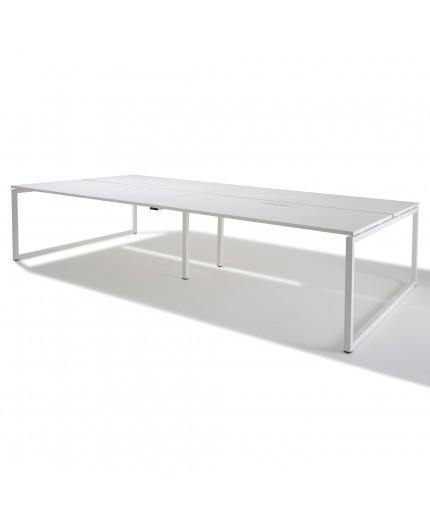 Bureau bench 4 personnes - Gamme Cube