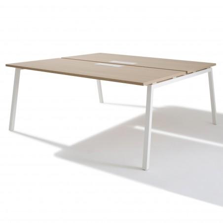 Bench de 2 Bureaux pour open space - Gamme Actea