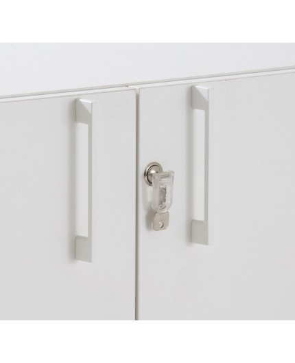 armoire porte battante bout de bureau hauteur 74cm negostock. Black Bedroom Furniture Sets. Home Design Ideas