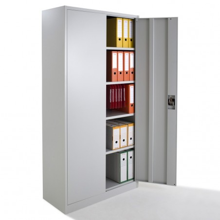 armoire de bureau m tallique portes battantes monobloc h180xl80xp38cm. Black Bedroom Furniture Sets. Home Design Ideas