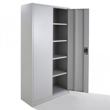 Armoire de bureau métallique portes battantes monobloc H180xL80xP38cm