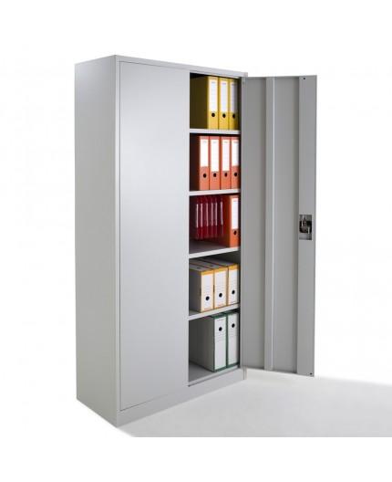 Armoire de bureau métallique à portes battantes Monobloc H192xL92xP42