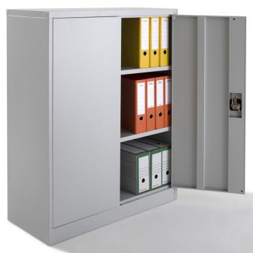 Armoire à portes battantes, monobloc, H120xL92xP40 cm