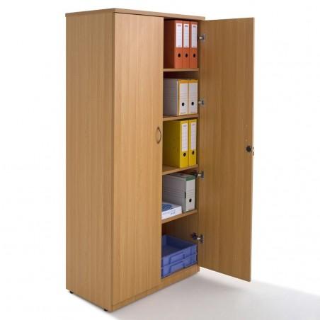 Armoire portes battantes en bois, H180xL80xP45cm