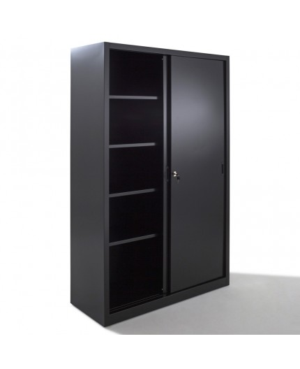 armoire haute portes coulissantes armoires m tal negostock. Black Bedroom Furniture Sets. Home Design Ideas