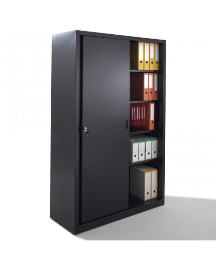 Armoire haute portes coulissantes, armoires métal Negostock