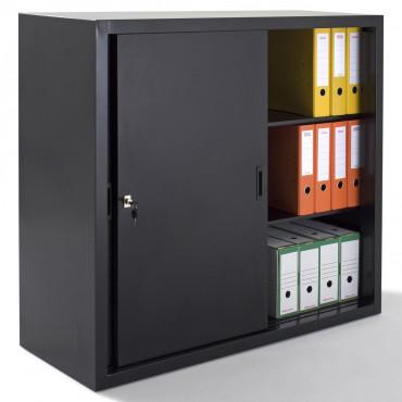 Armoire portes coulissantes métallique H109xL120xP45cm