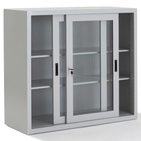 Armoire portes coulissantes transparentes