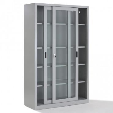 Armoire portes transparentes métallique Negostock