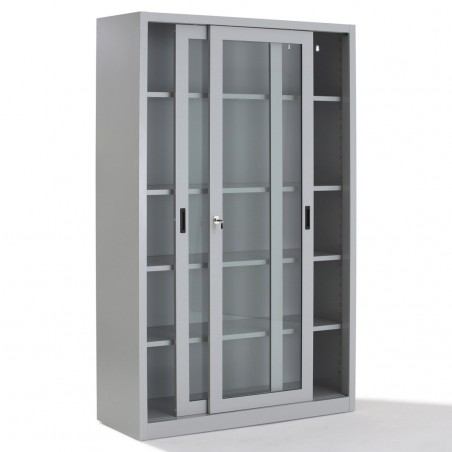 Armoire portes coulissantes transparentes Haute