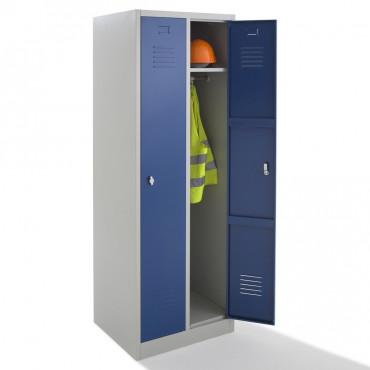 Vestiaire métallique propre - 2 cases - Negostock