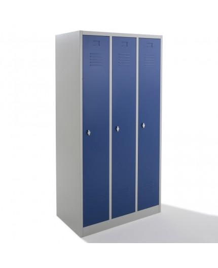 Vestiaire propre metallique, armoire vestiaires industrie 3 cases