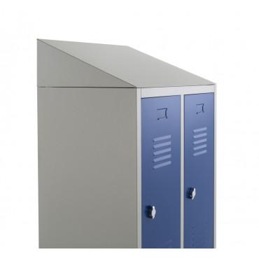Vestiaire salissant monobloc 2 cases, metallique entreprise Negostock