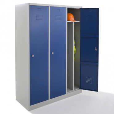 Vestiaire industrie salissante, armoire vestiaire metallique Negostock