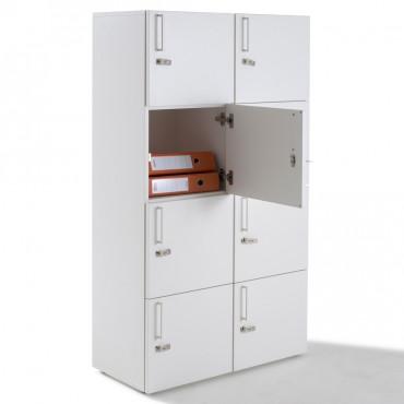 Vestiaire meuble casier multicases en bois