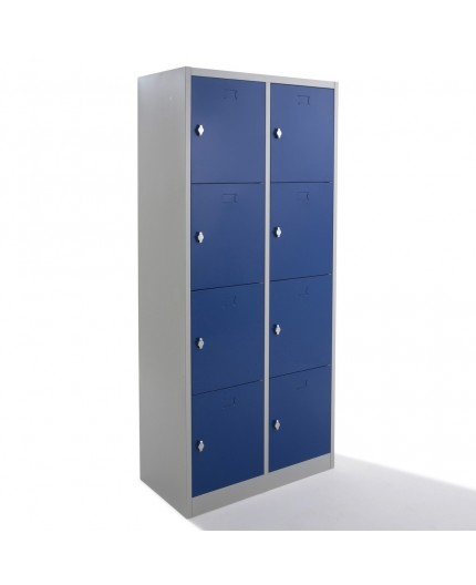 Vestiaire multicases métallique 8 cases, vestiaire monobloc avec Negostock