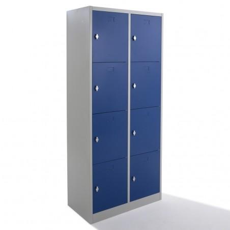 Vestiaire multicases monobloc 8 cases